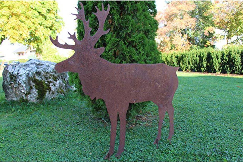 Welcher Gartenbesitzer hätte nicht gerne so einen schönen, großen Metall-Hirsch im Garten. Der Eyecatcher schlechthin.