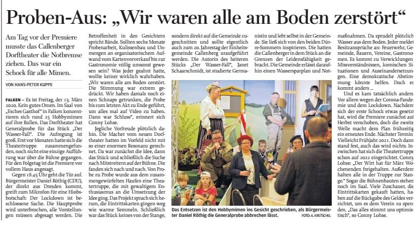 """Proben-Aus: """"Wir waren alle am Boden zerstört"""""""