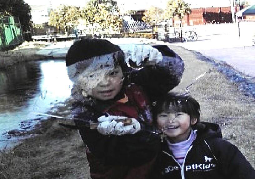 トンボ池に氷が張ってビックリ!(2009年12月19日)