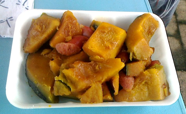 朝採りメキシコかぼちゃは絶品
