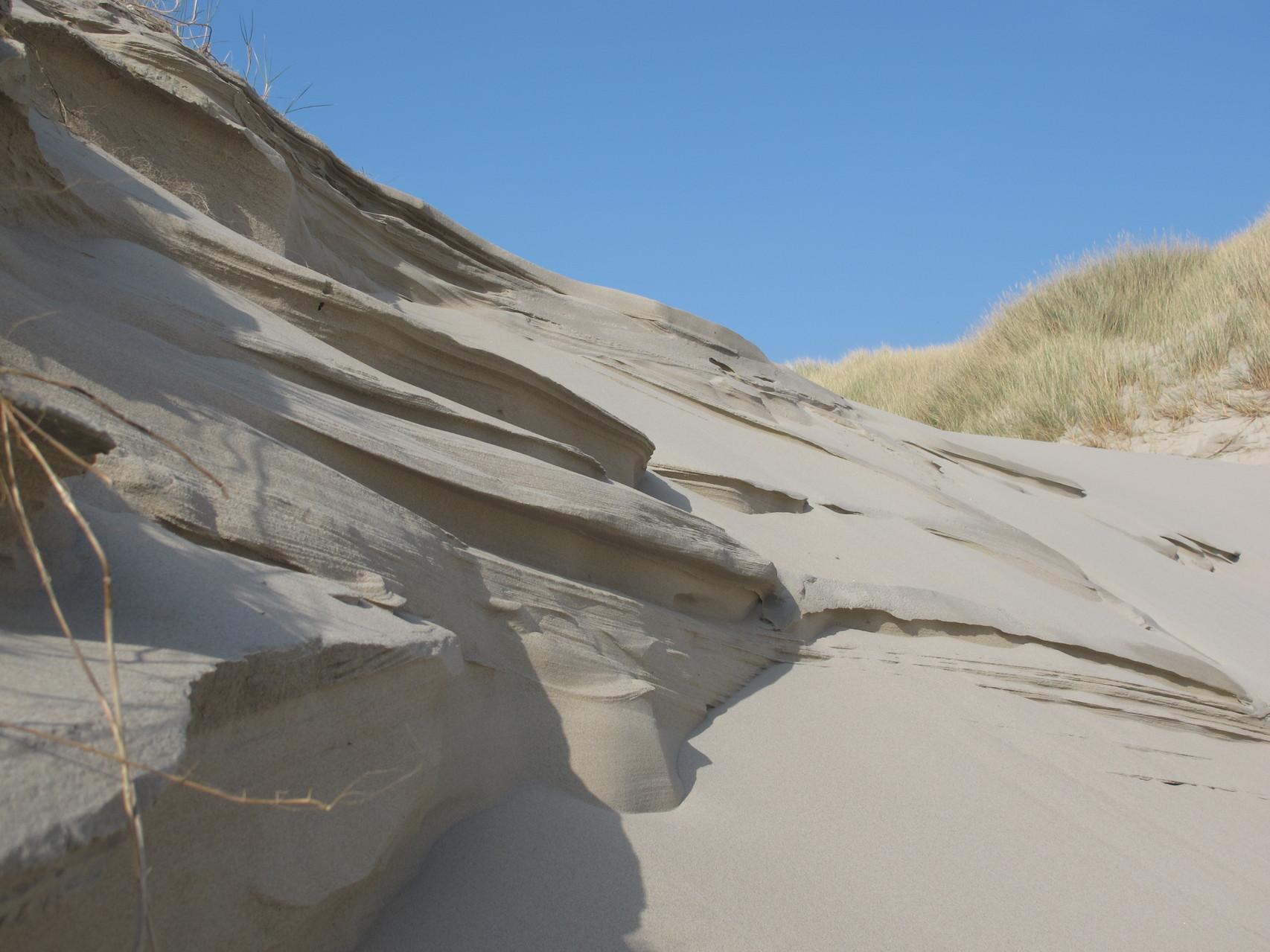 la dune de sable sculptée
