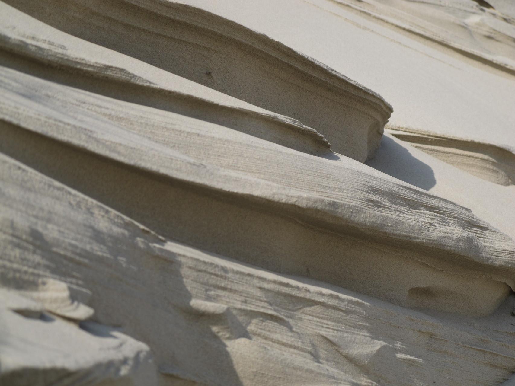 La beauté du sable sculpté