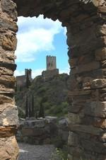 Lastours: vue sur la tour Régine