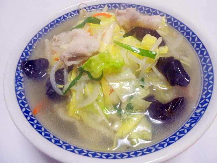 野菜たっぷり、タンメン 650円