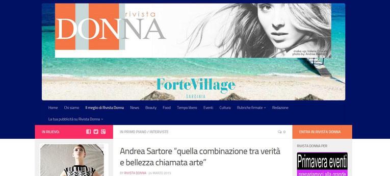 INTERVIEWED BY RIVISTA DONNA