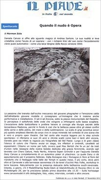 """PUBLISHED  ON NEWSPAPER """" IL PIAVE"""""""