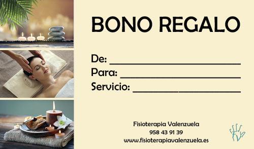 Bono Regalo en Fisioterapia Valenzuela, Atarfe Granada