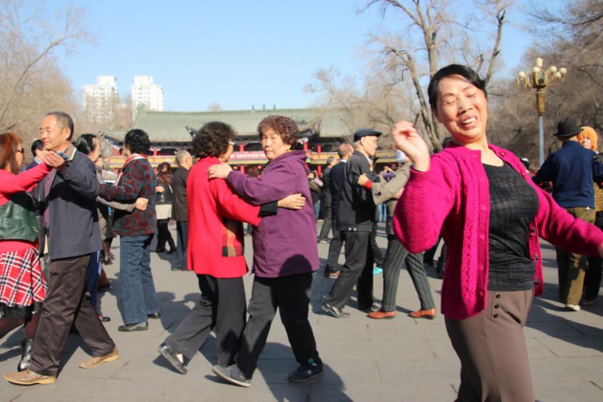 Journée standard dans un parc à Urumqi