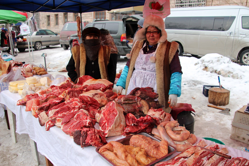 Viande sur le marché