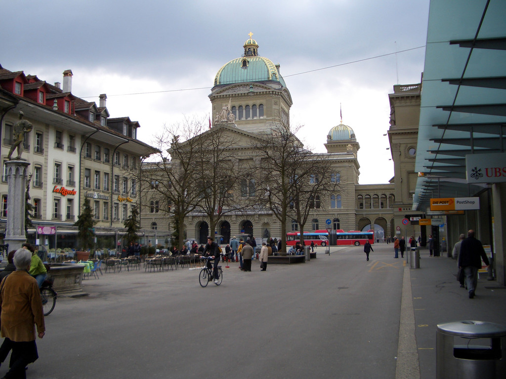 Erster Blick aufs Bundeshaus.