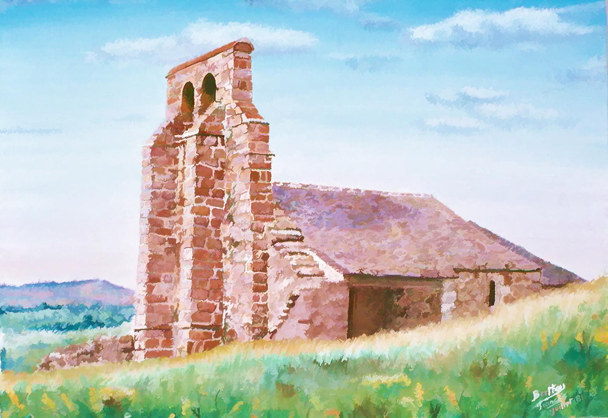 Chapelle st antoine: pastel sur carton bristol: 8 0 cm x 50 cm