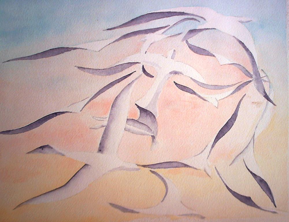Surréalisme, esquisse en vu d'un proget de peinture a l'huile