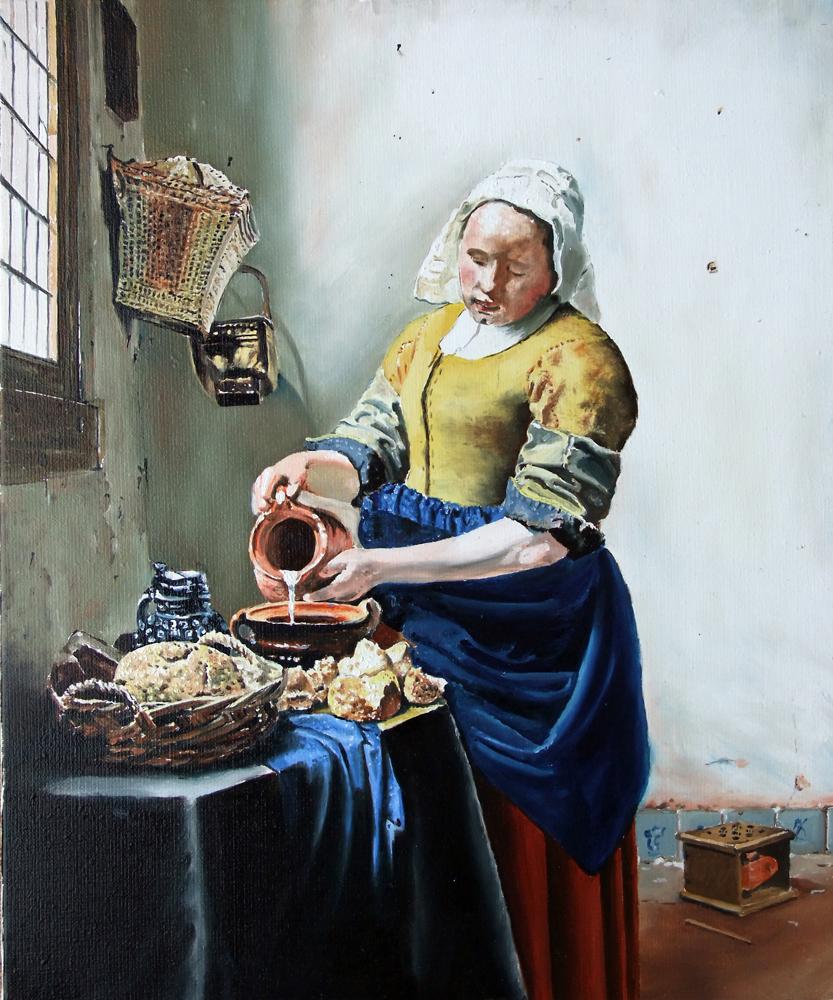 Vermeer- La laitière: 46 cm x 38 cm