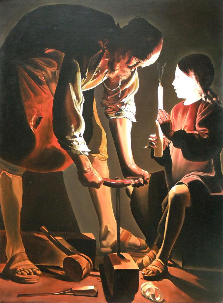 Jeorges Delatour- St Joseph charpentier: 130 cm x 97 cm