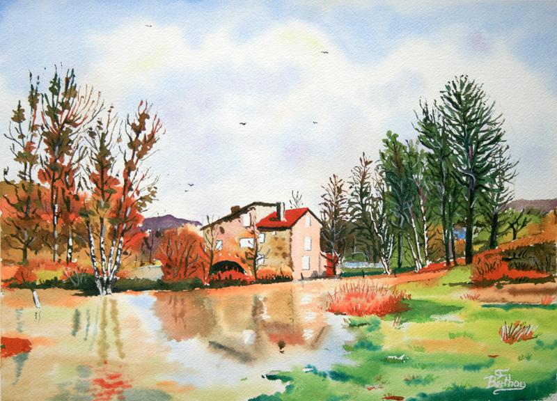 Moulin de Caillac l'automne