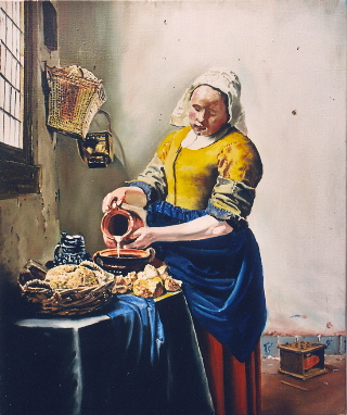 La laitière (copie de Vermeer)