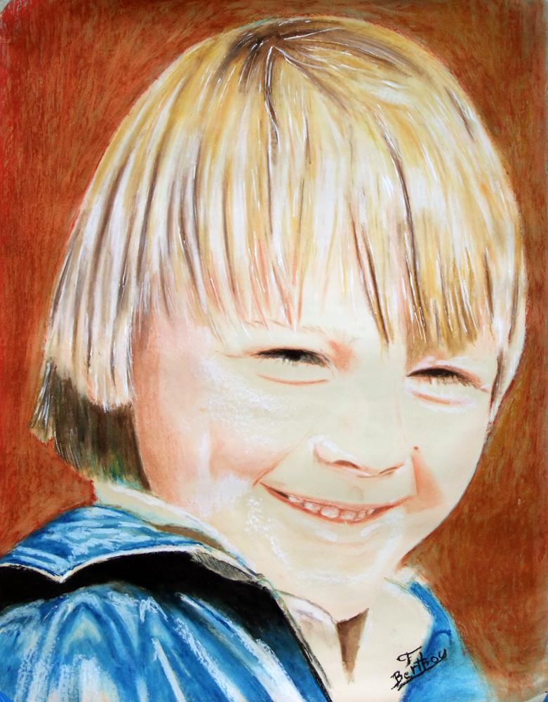 Lionel: pastel sur papier canson: 105 cm x 82 cm