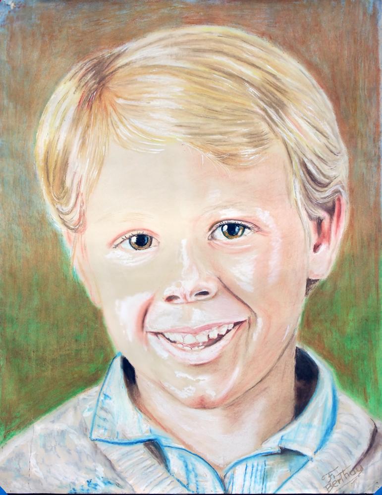 Yannick: Pastel sur papier canson: 105 cm x 82 cm