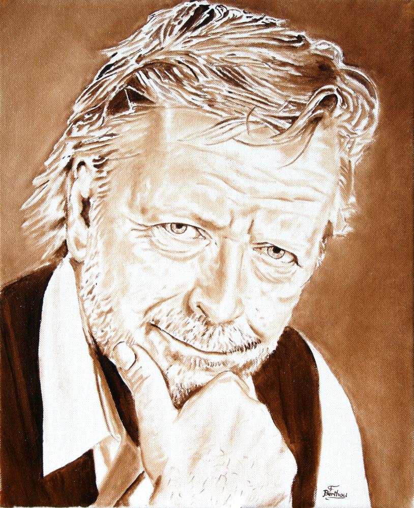 Renaud, monochrome sur toile:  46 cm x 38 cm