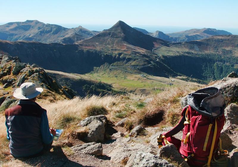 Le Puy Mary vu du sommet du Peyre Arse