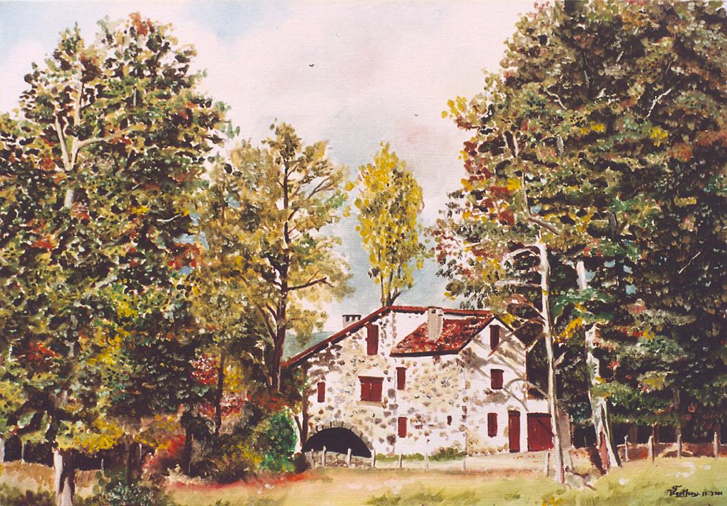 Moulin de Caillac: huile sur toile: 46 cm x 33 cm