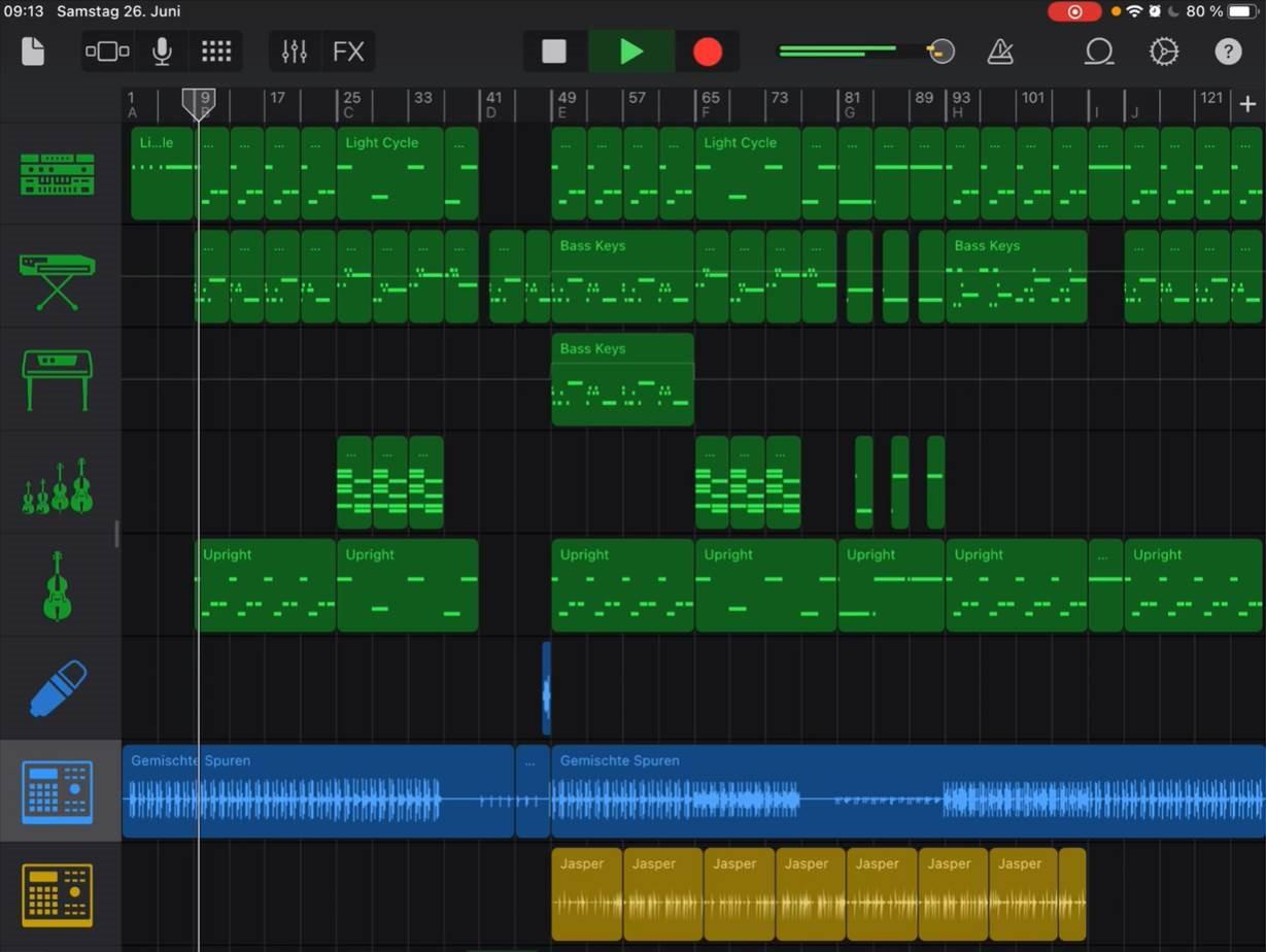 """Online-Musikproduktion mit """"Garageband"""""""