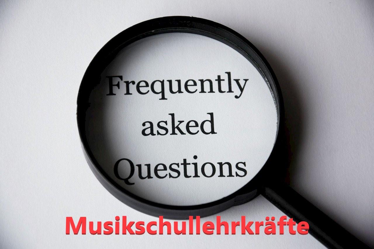 FAQ´s zum Online-Unterricht der Musikschullehrkräfte