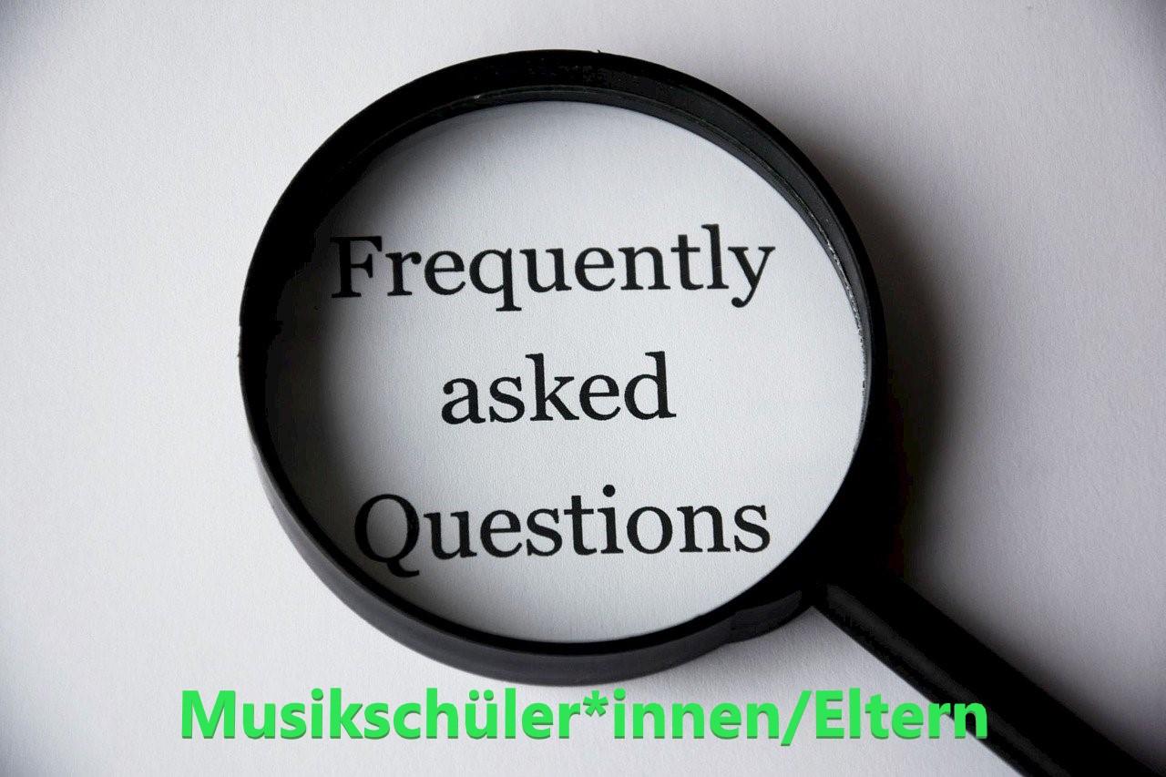FAQ´s zum Online-Unterricht der Musikschüler*innen/Eltern