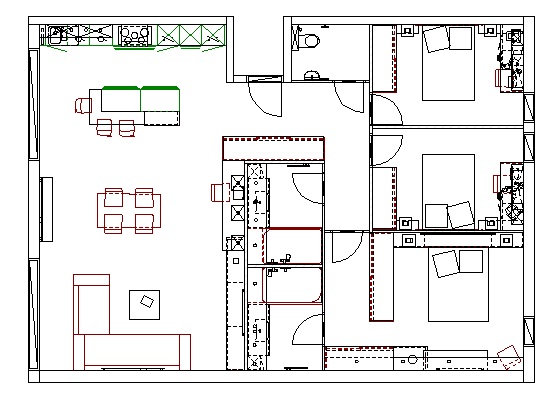 plan appartement meuble