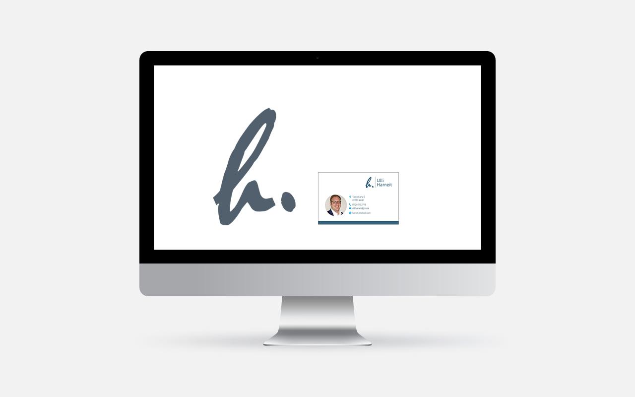 Logoentwicklung   Webdesign   Projekt: Ulli Harneit   Bewerbungsunterlagen