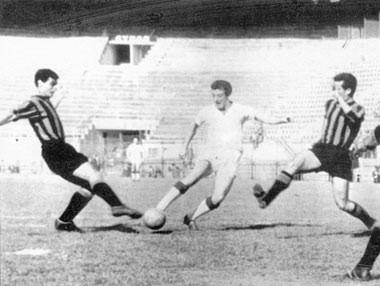 Eine historische Fußballaufnahme