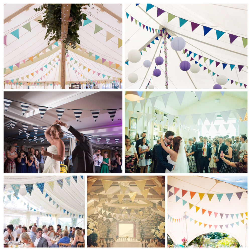 Just a few styles of bunting available from the Funky Flags Bunting hire range