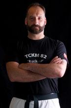 Christophe SALLES, président TCKM 82 ,ceinture noire 4°, Instructeur chef,Kapap level B, DIF 2015