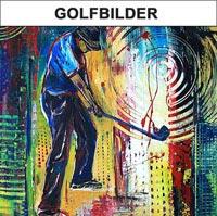 Golfbilder - Golfer Abschlag Bilder - Golfspieler handgemalt