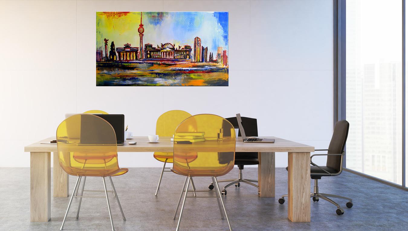 Küchenbilder - handgemalte Bilder für Küche modern abstrakt - Acryl Küchengemälde
