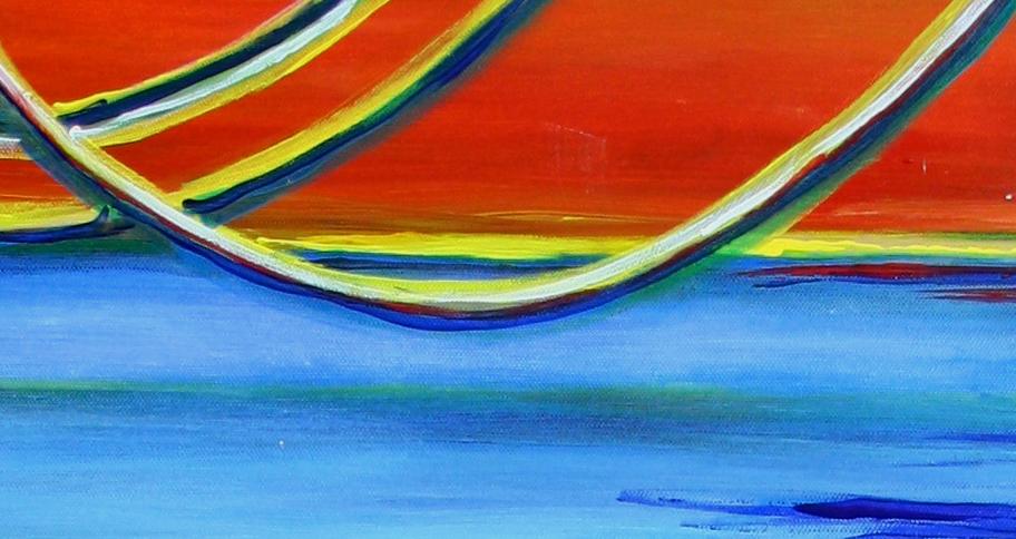 Spaceland - Abstrakte Kunst Malerei - Acrylbild günstig