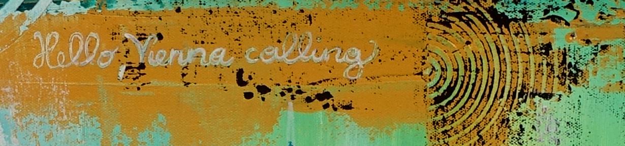 Wien Wandbilder Skyline Stephansdom Prater abstrakt gemalt Acrylgemälde Künstlerbild