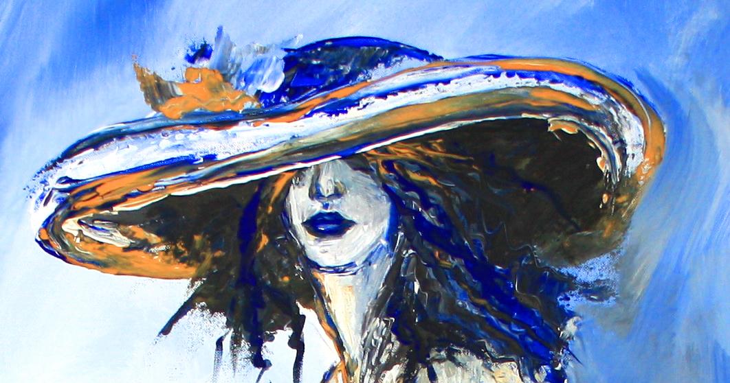 Nix los - Frau mit Sektglas - Moderne Malerei aus