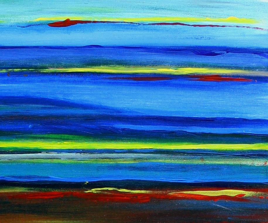 Spaceland - Abstrakte Kunst Malerei - Acrylbild