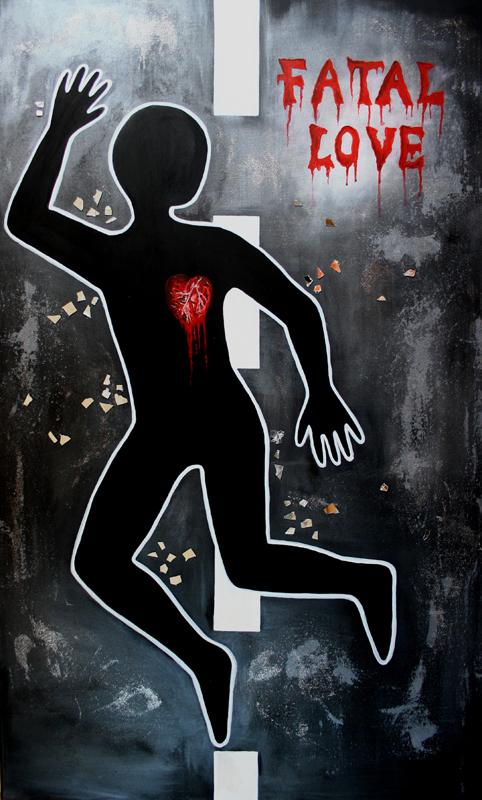 F 16 - Figuerliche Malerei - Figurative Wandbilder - Dead