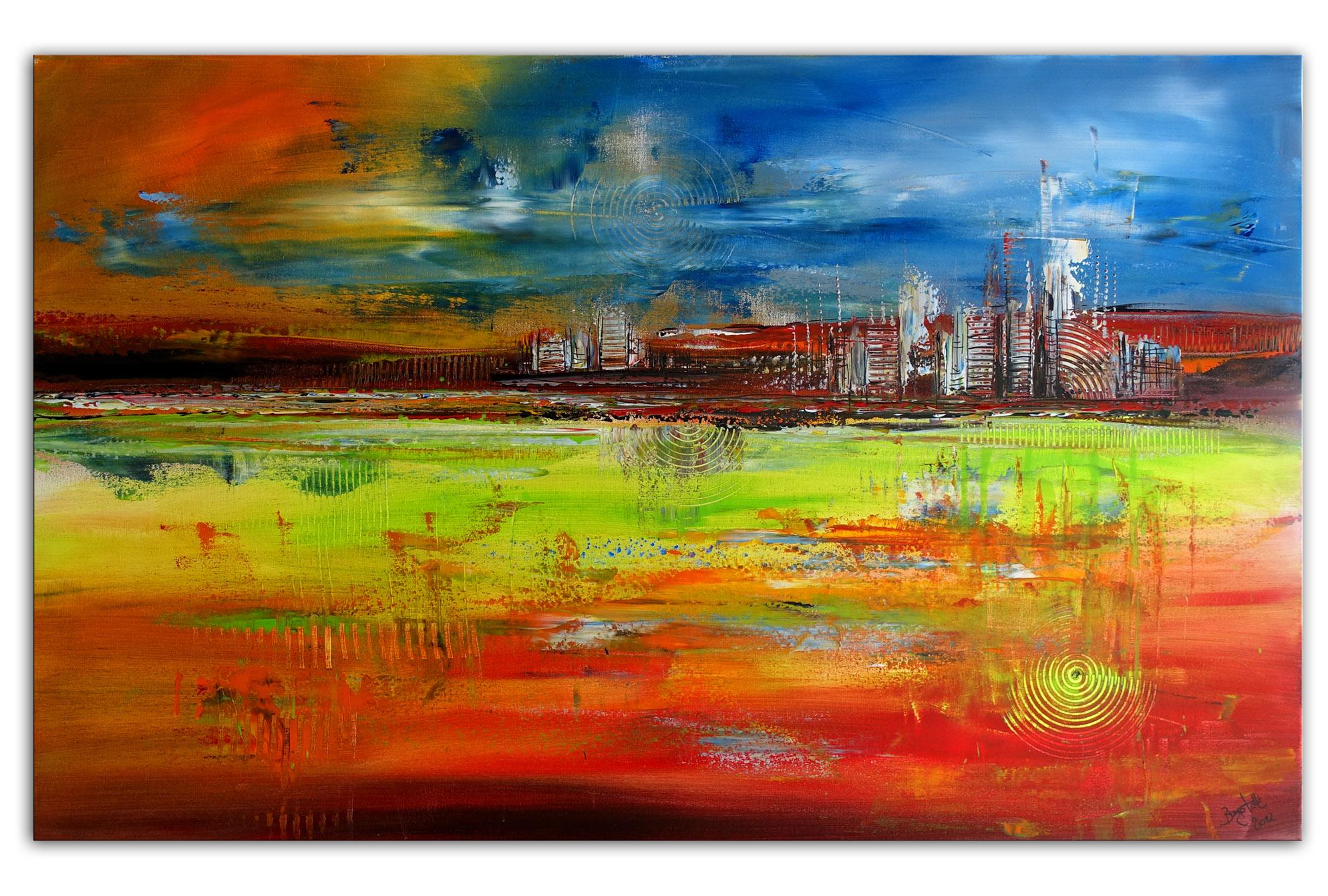 Höhlengeister Fluid Painting abstrakte Kunst Bilder gemalt kaufen 80x100