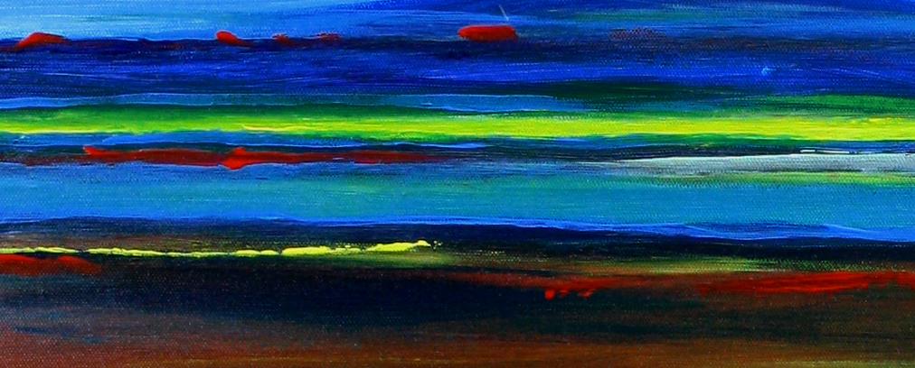 Spaceland - Abstrakte Kunst Malerei - Acrylbild günstig - Gemälde