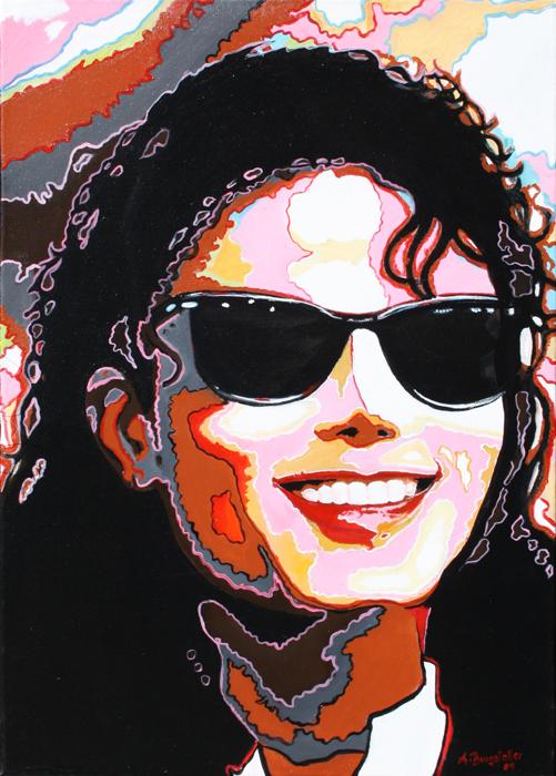 P 25 - Künstler Portrait Gesichter Gemalt - Michael Jackson
