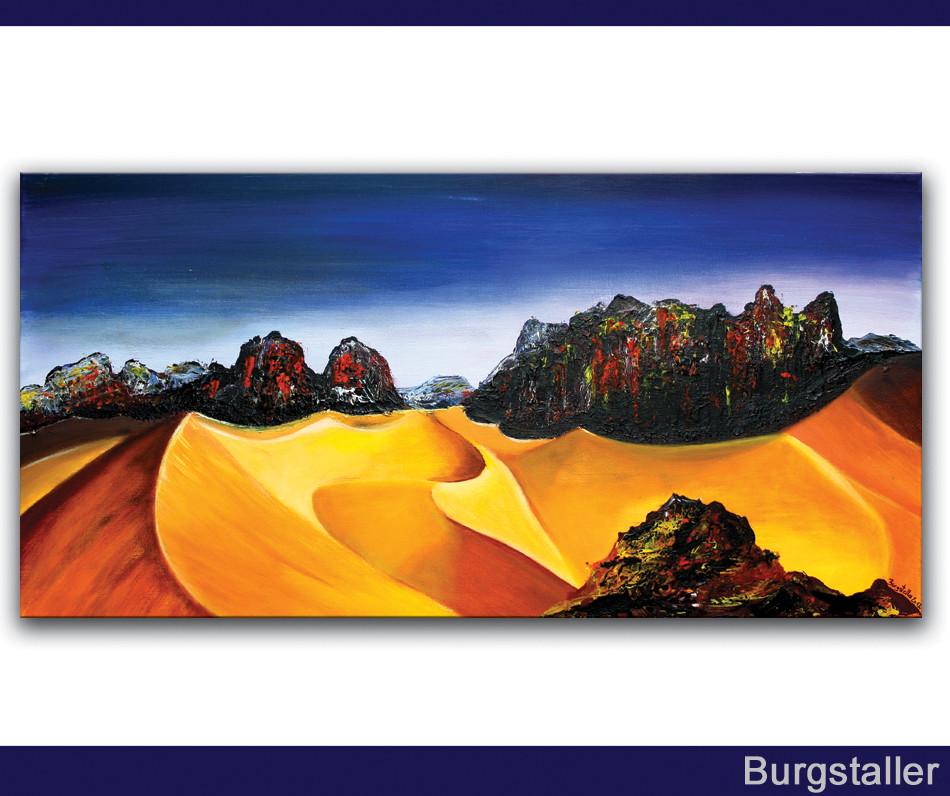 Sahara 1 w sten bilder kaufen gem lde malerei burgstaller for Moderne landschaftsbilder