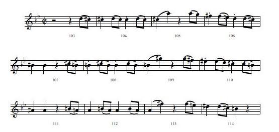 モーツァルト 交響曲第40番 第1楽章 103小節目から