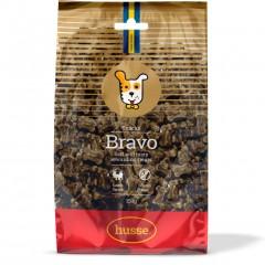 Husse bravo is een perfect trainingssnoepje. Het is zacht en gebaseerd op lamsvlees en glutenvrij
