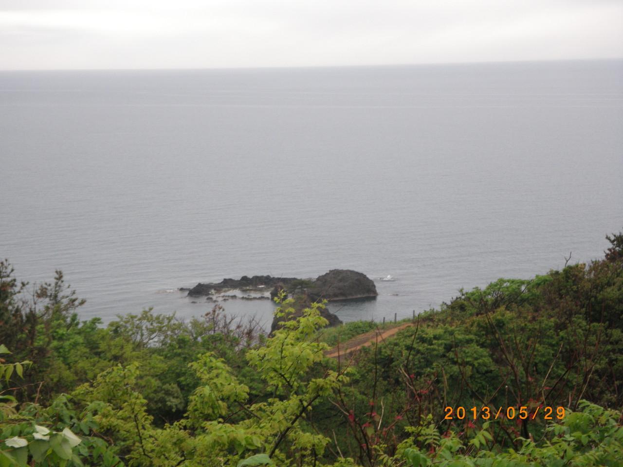 日本海 水平線 恋人岬  ここから 拉致された蓮池さん