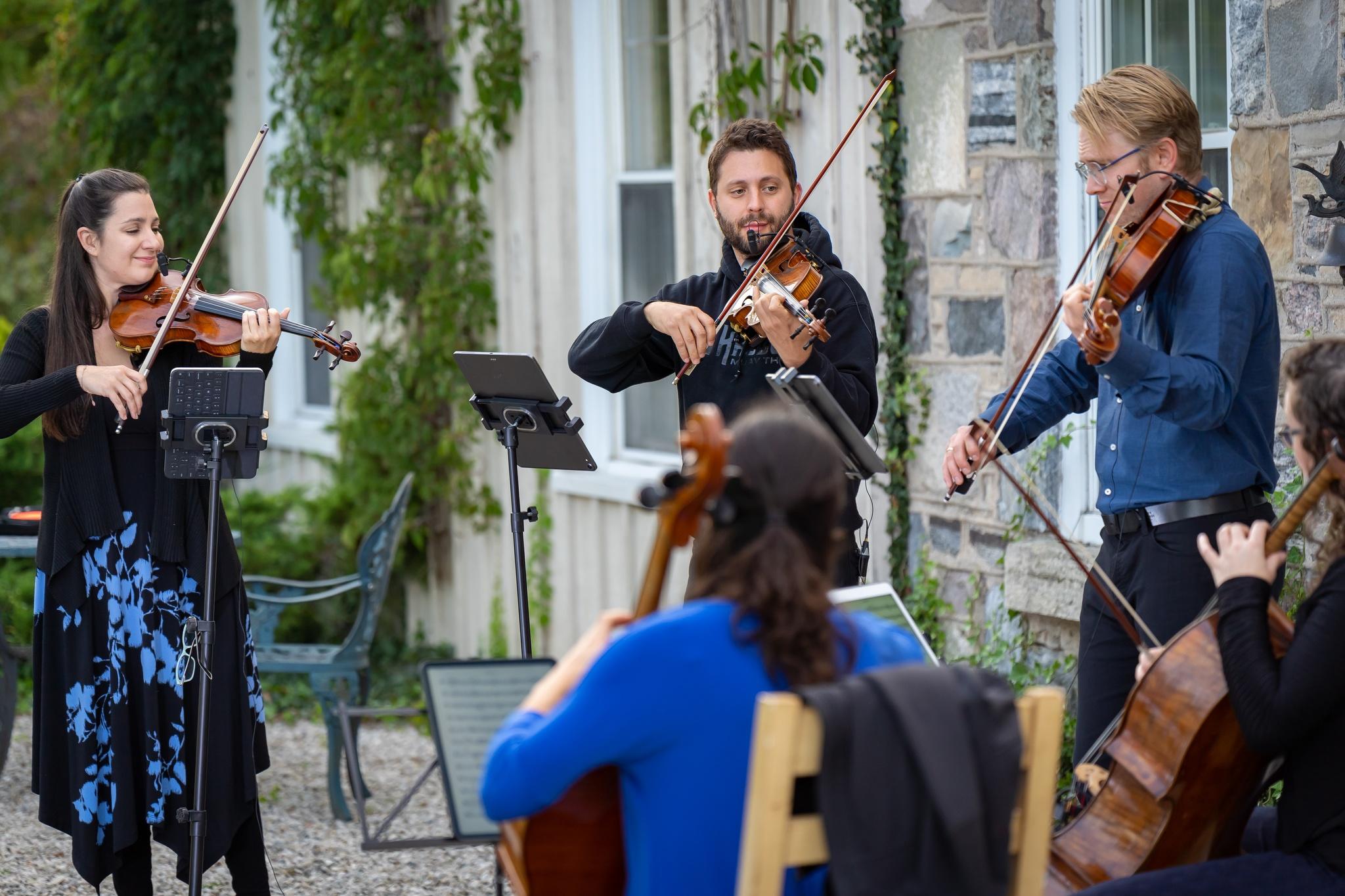 Rosebud STring Quartet and Julie Hereish perform at Celebration Concert.