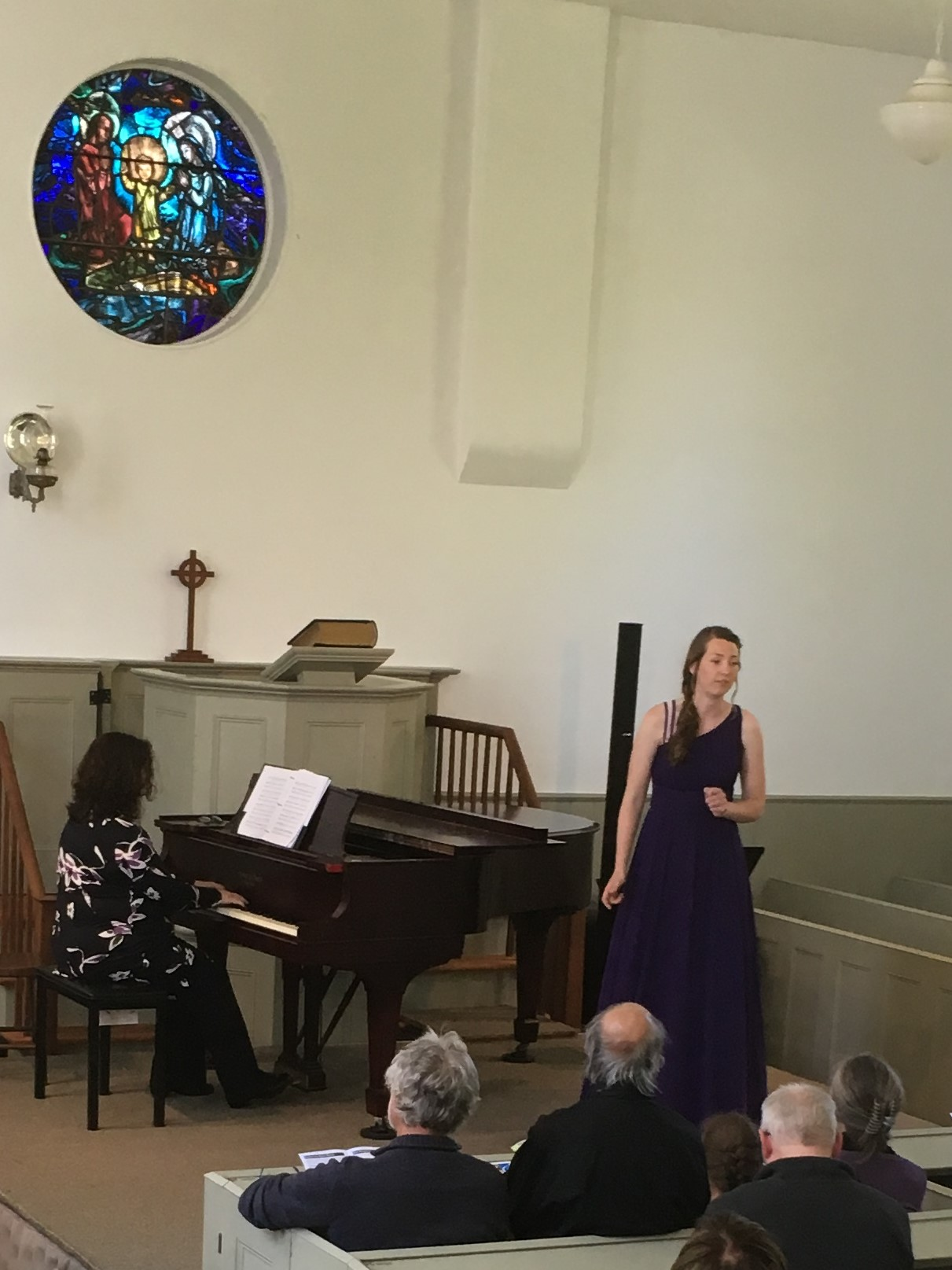 Vanessa Bosman sings a work composed by her accompanist Fiona Evison.