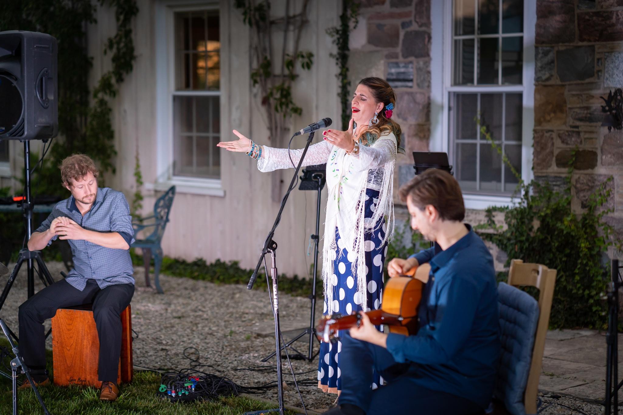 Tamar Ilana Flamenco Trio in performance during Celebration Concert.